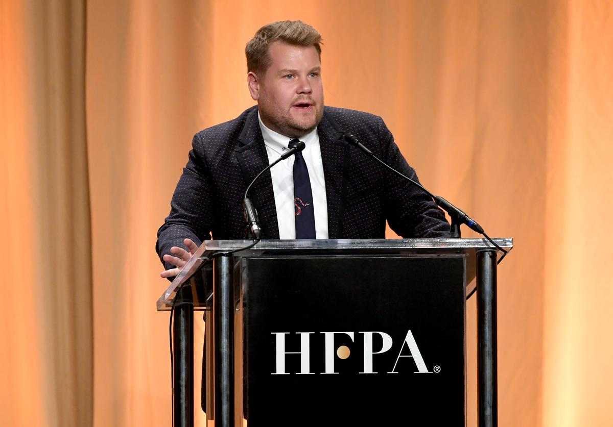 James Corden speaks onstage during Hollywood Foreign Press Association's Annual Grants Banquet at Regent Beverly Wilshire Hotel on July 31, 2019 in Beverly Hills, California.