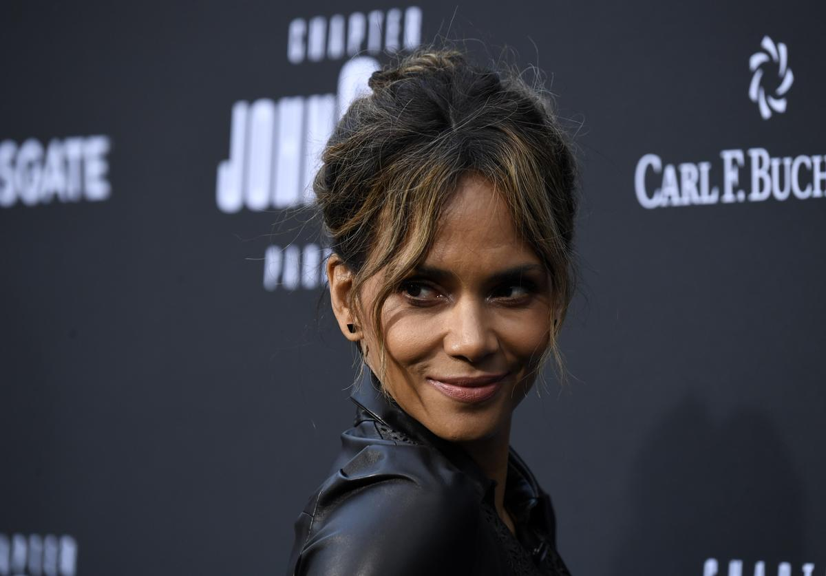 Halle Berry at John Wick premiere.