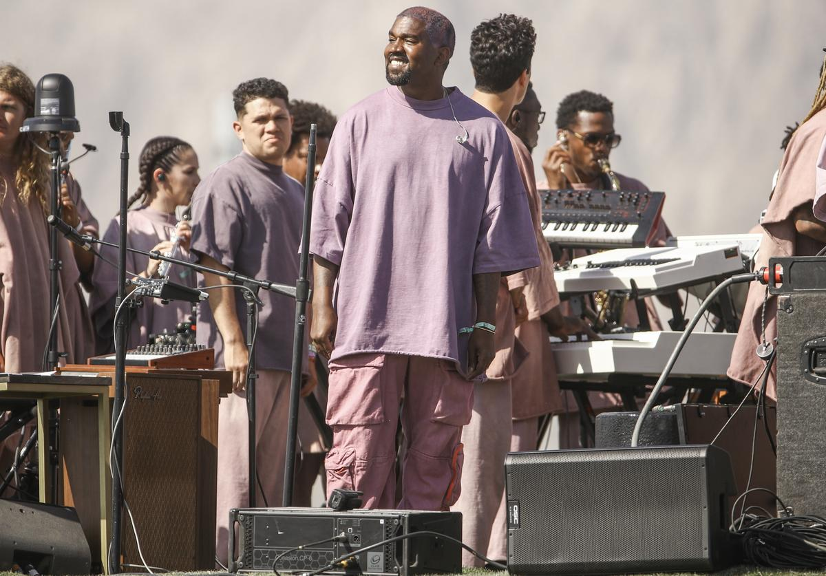 Kanye West at Sunday Service.