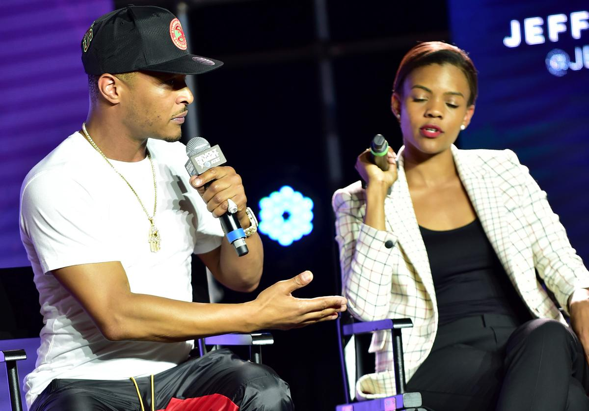 T.I. and Candace Owens at REVOLT Summit.