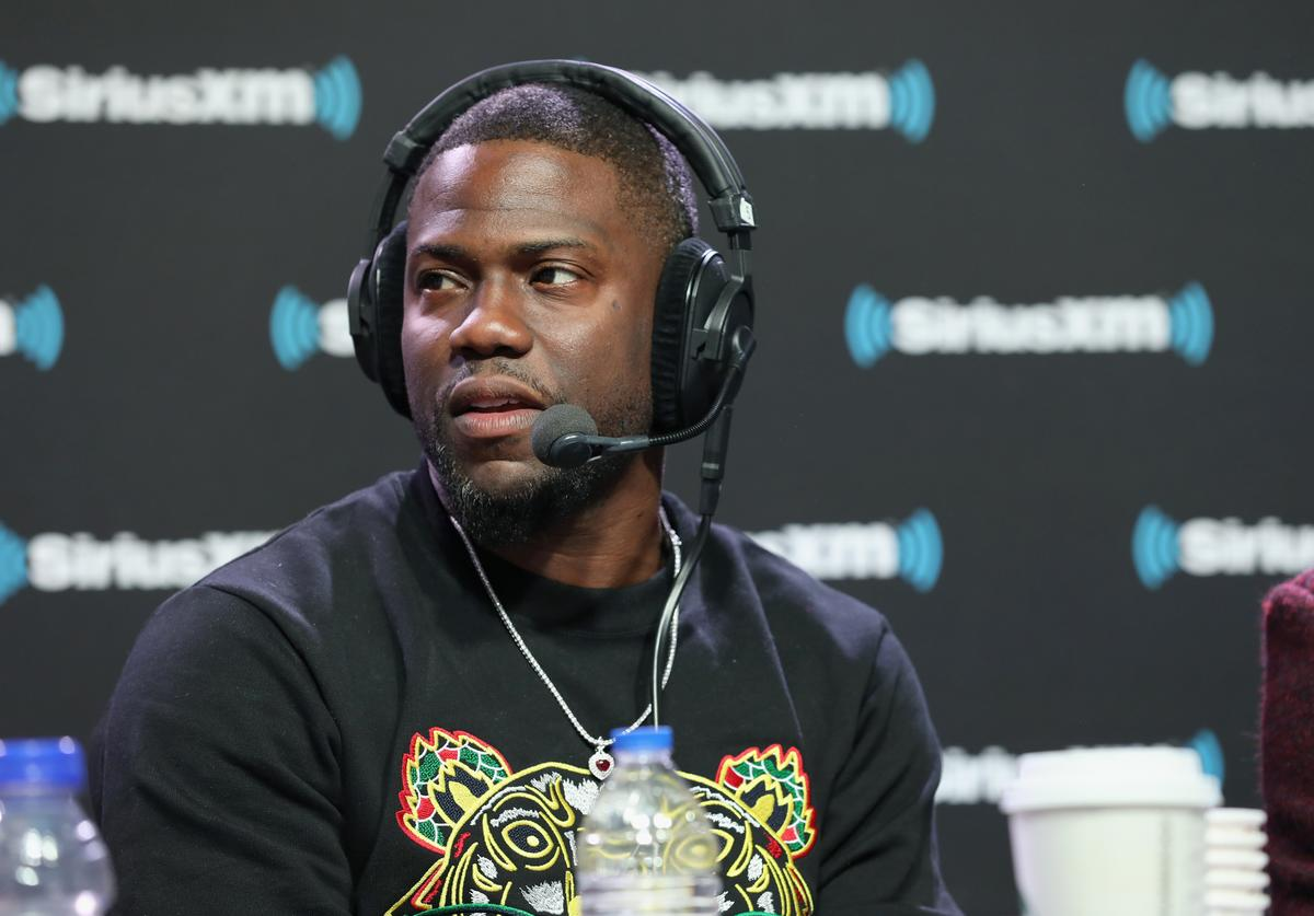Kevin Hart attends SiriusXM at Super Bowl LIII Radio Row on February 01, 2019 in Atlanta, Georgia.
