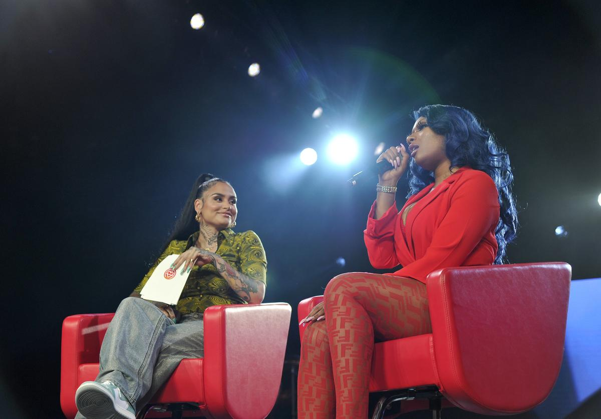Kehlani and Megan Thee Stallion speak onstage during Beautycon Festival Los Angeles 2019 at Los Angeles Convention Center on August 11, 2019 in Los Angeles, California