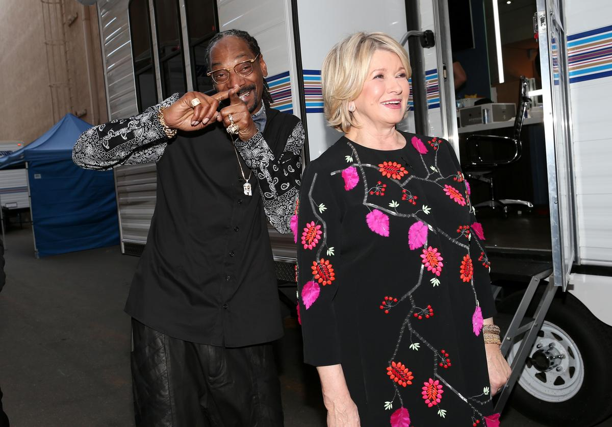 Snoop Dogg and TV personality Martha Stewart attend The Comedy Central Roast of Justin Bieber at Sony Pictures Studios on March 14, 2015 in Los Angeles, California