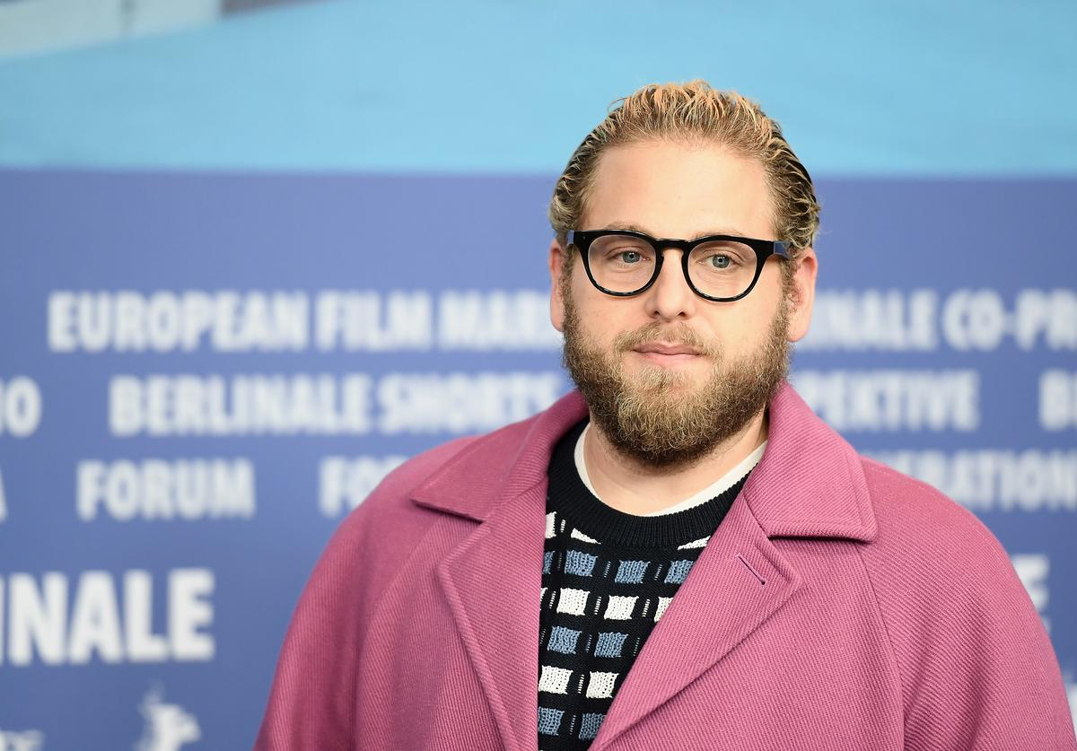 Jonah Hill at press conference.