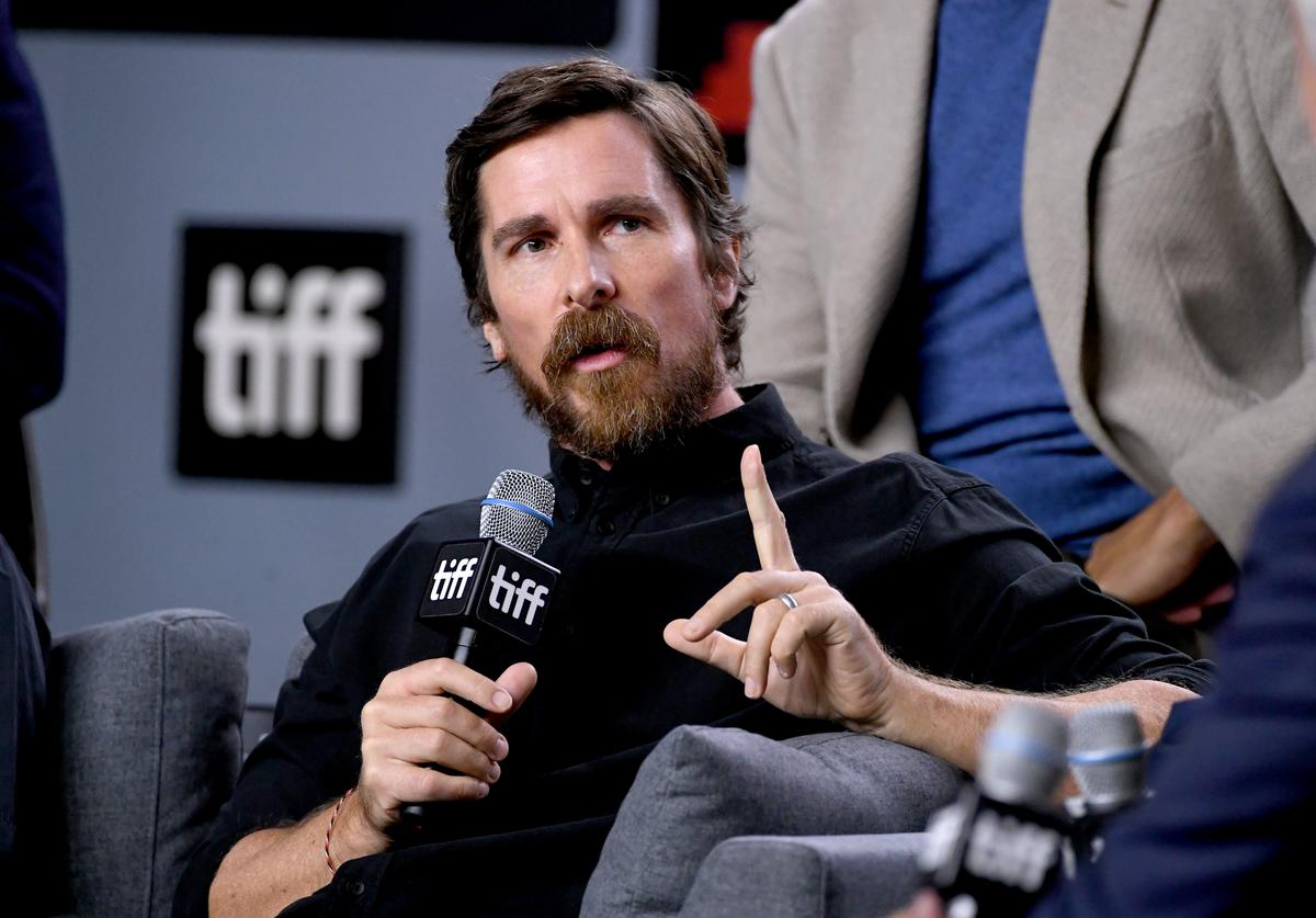 """Christian Bale attends the """"Ford v Ferrari"""" press conference during the 2019 Toronto International Film Festival at TIFF Bell Lightbox on September 10, 2019 in Toronto, Canada."""
