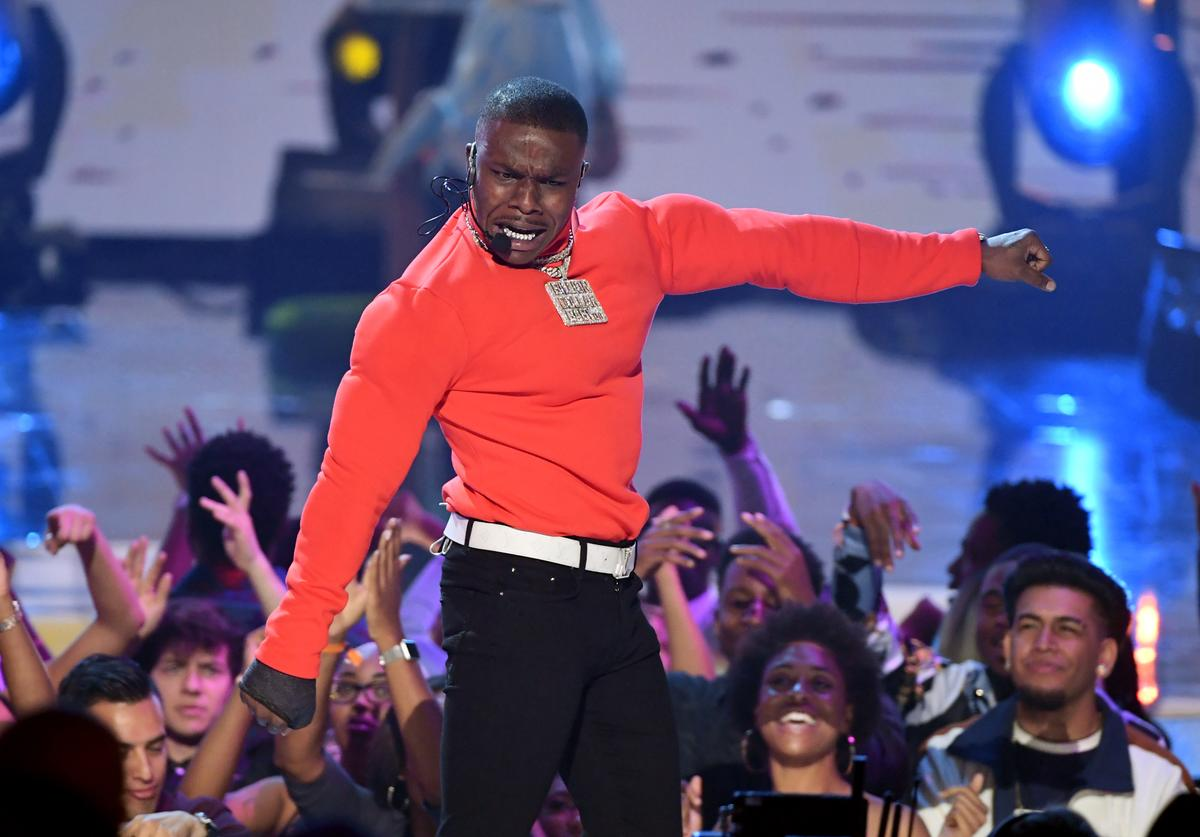 DaBaby performs onstage at the 2019 BET Awards on June 23, 2019 in Los Angeles, California.
