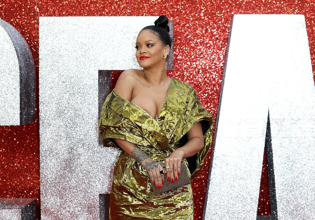 Rihanna attends the 'Ocean's 8' UK Premiere held at Cineworld Leicester Square on June 13, 2018 in London, England