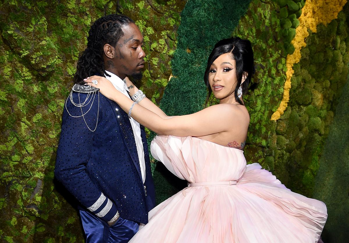 Offset (L) and Cardi B attend Rihanna's 5th Annual Diamond Ball Benefitting The Clara Lionel Foundation at Cipriani Wall Street on September 12, 2019 in New York City