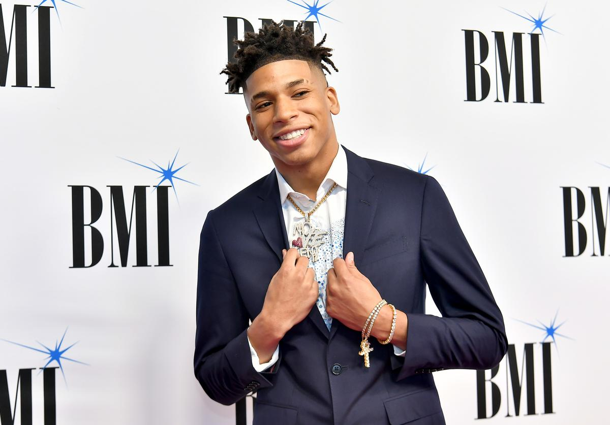 NLE Choppa attends The 2019 BMI R&B/Hip-Hop Awards at Sandy Springs Performing Arts Center on August 29, 2019 in Sandy Springs, Georgia