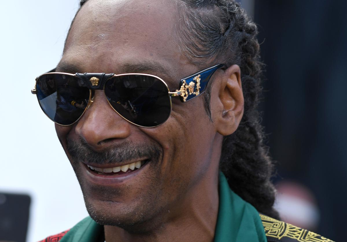 Snoop Dogg makes an appearance for the game between the Los Angeles Chargers and the Houston Texans at Dignity Health Sports Park on September 22, 2019 in Carson, California