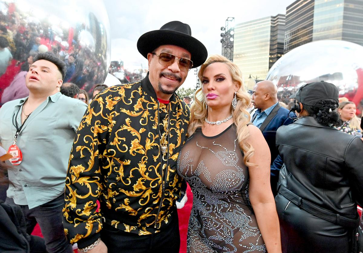 Ice-T and Coco Austin attend the 2019 MTV Video Music Awards at Prudential Center on August 26, 2019 in Newark, New Jersey
