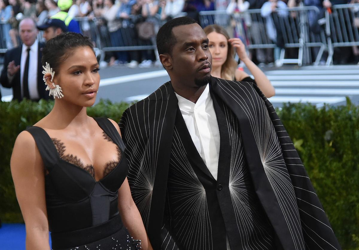 """Cassie (L) and Sean 'Diddy' Combs aka Puff Daddy attend the """"Rei Kawakubo/Comme des Garcons: Art Of The In-Between"""" Costume Institute Gala at Metropolitan Museum of Art on May 1, 2017 in New York City"""