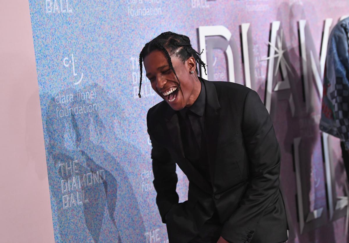ASAP Rocky attends Rihanna's 4th Annual Diamond Ball benefitting The Clara Lionel Foundation at Cipriani Wall Street on September 13, 2018 in New York City