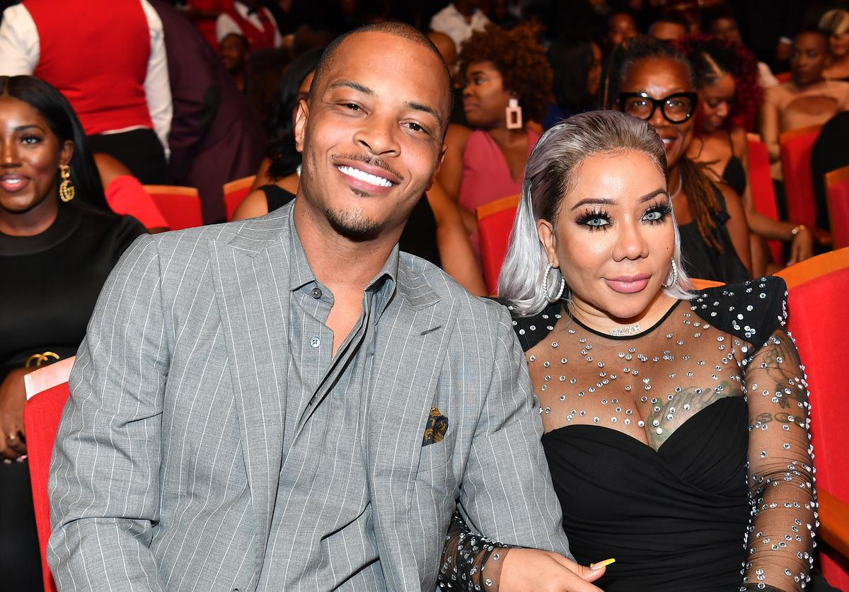 "T.I. and Tameka ""Tiny"" Harris attend 2019 Black Music Honors at Cobb Energy Performing Arts Centre on September 05, 2019 in Atlanta, Georgia"