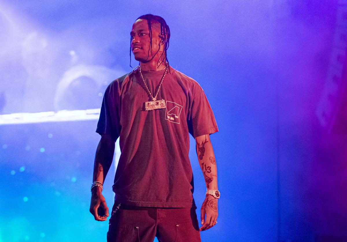 Rapper Travis Scott performs on day 2 of Music Midtown at Piedmont Park on September 15, 2019 in Atlanta, Georgia.