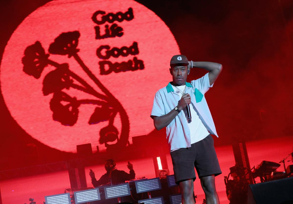 Tyler, The Creator performing.