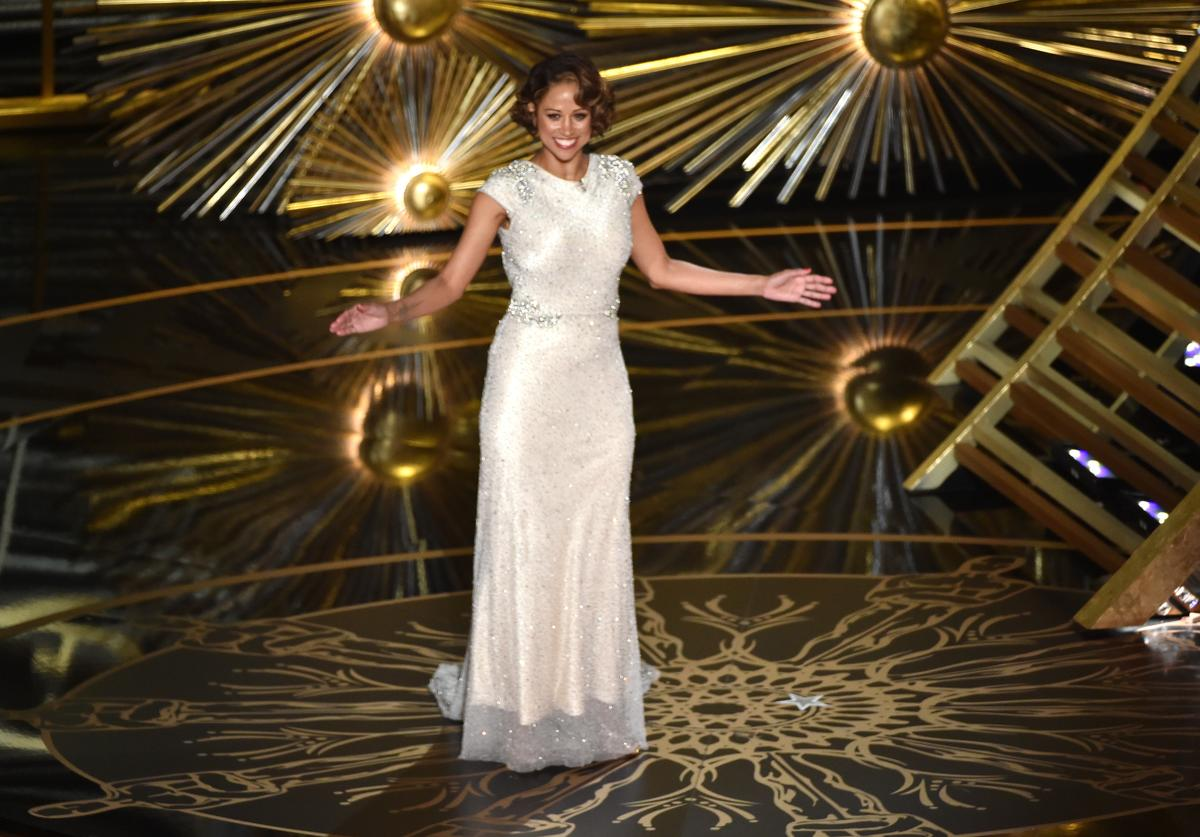 Stacey Dash speaks onstage during the 88th Annual Academy Awards at the Dolby Theatre on February 28, 2016 in Hollywood, California
