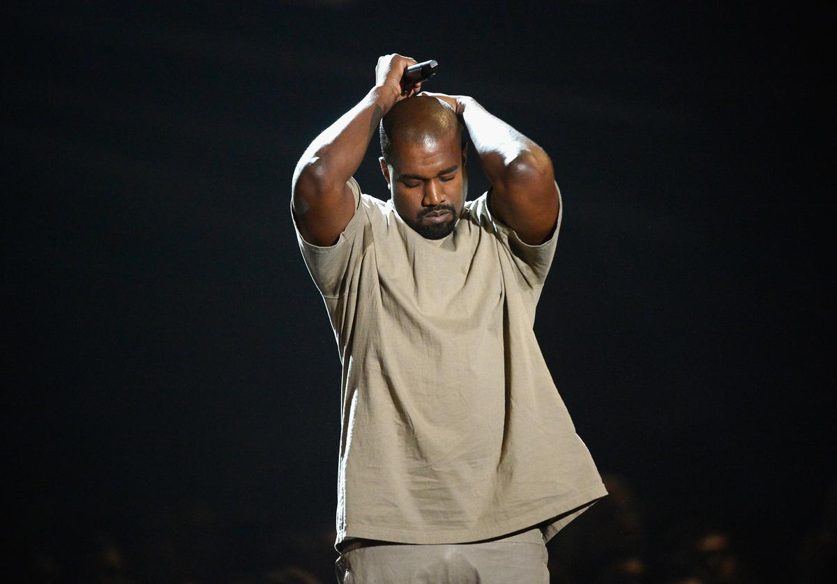 Kanye West speaks onstage during the 2015 MTV Video Music Awards at Microsoft Theater on August 30, 2015 in Los Angeles, California