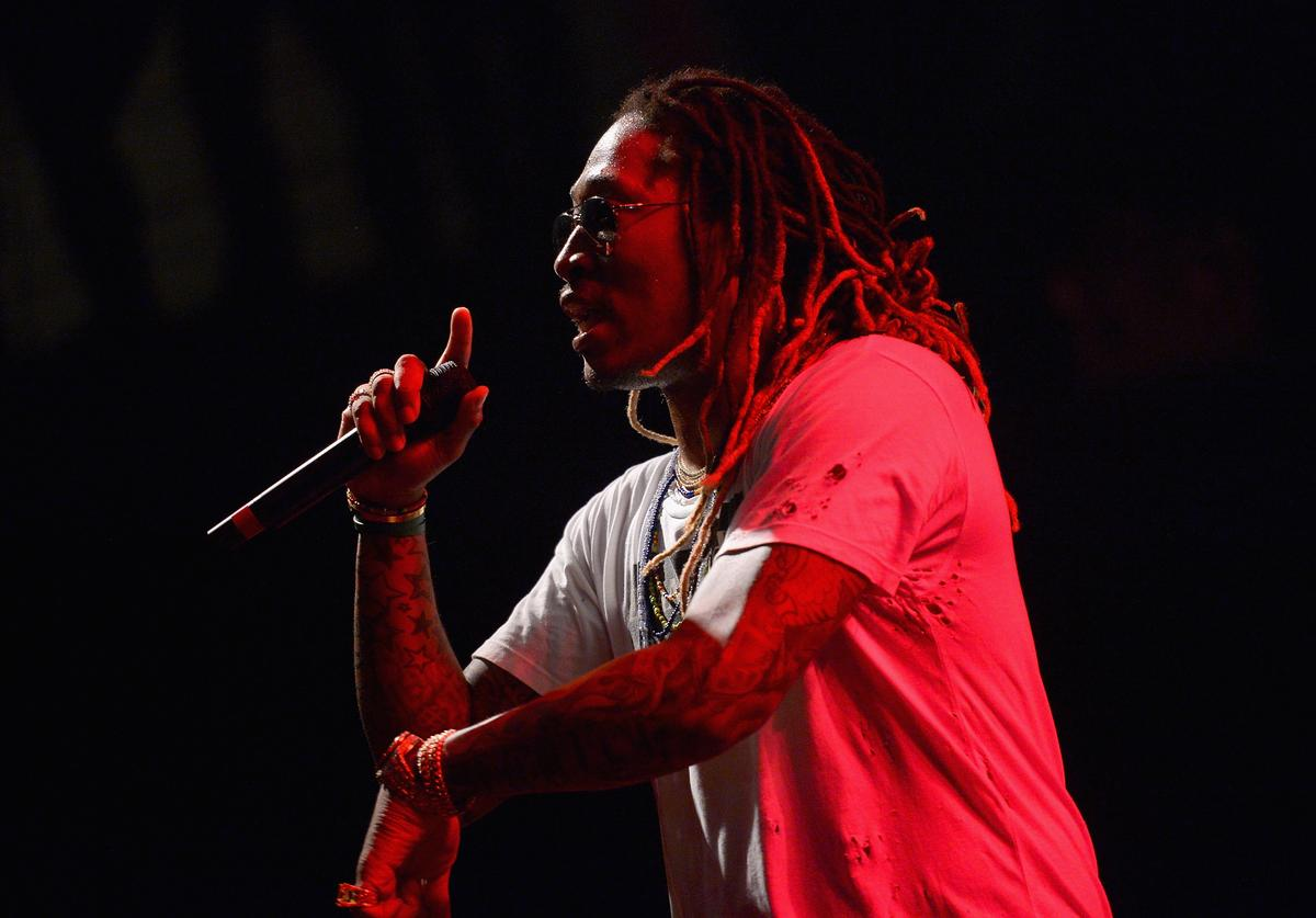 Future appears onstage during the AWXII kick-off concert on September 28, 2015 in New York City