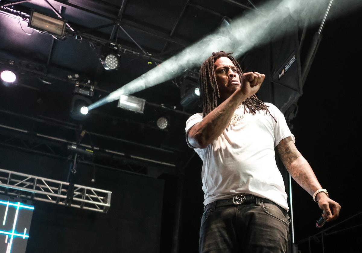 Waka Flocka Flame performs on August 20, 2017 in Wantagh City