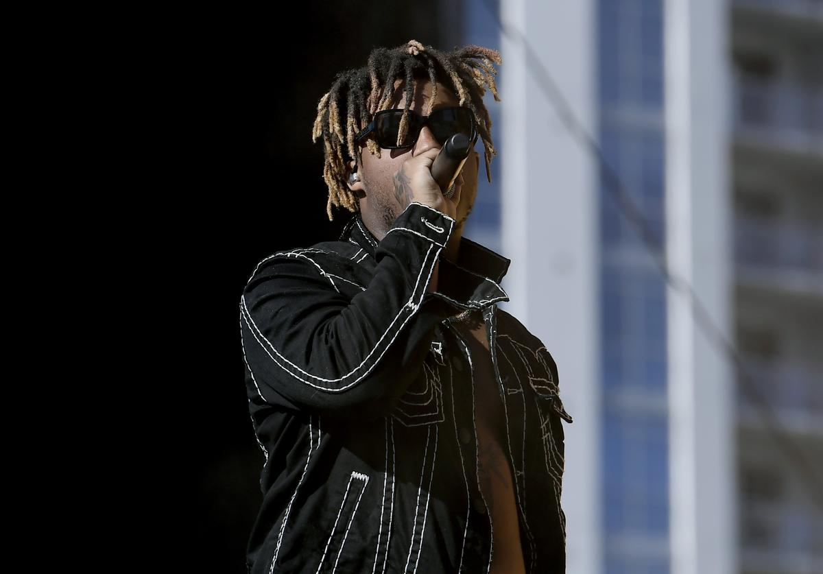 Juice Wrld performs onstage during the 2019 iHeartRadio Music Festival and Daytime Stage at the Las Vegas Festival Grounds on September 21, 2019 in Las Vegas, Nevada