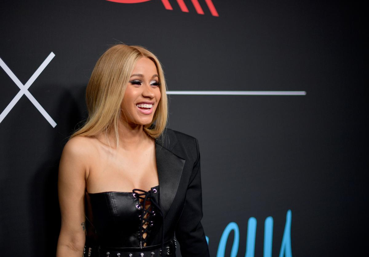 Cardi B attends the 2018 GQ x Neiman Marcus All Star Party at Nomad Los Angeles on February 17, 2018 in Los Angeles, California