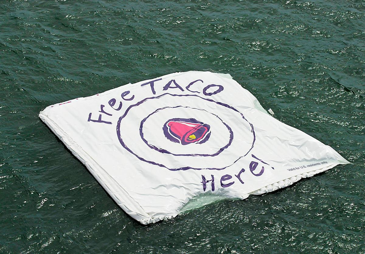 """Taco Bell Floats A Promotional """"Bullseye Target,"""" In The Ocean"""