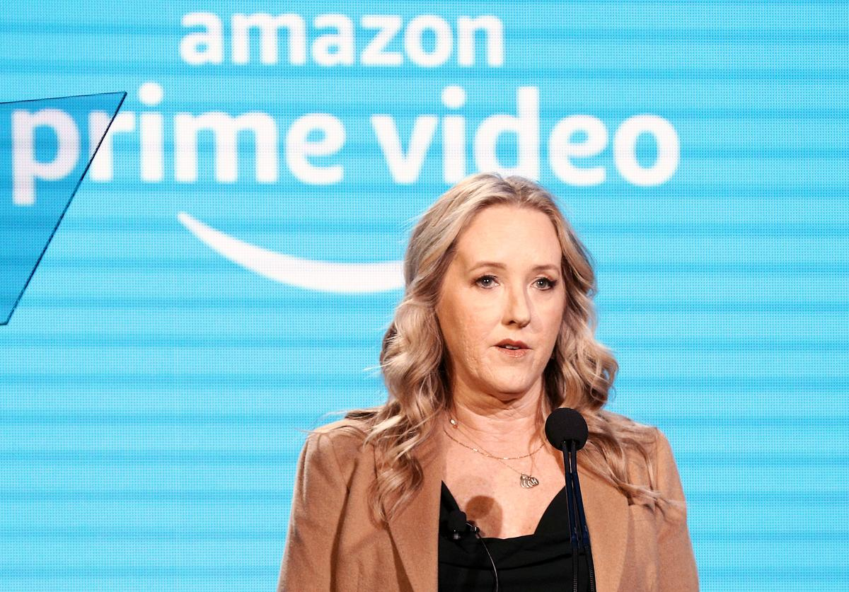 Head of Amazon Studios Jennifer Salke speaks during the Amazon Prime Video Session of the 2019 Winter Television Critics Association Press Tour at The Langham Huntington, Pasadena on February 13, 2019 in Pasadena, California