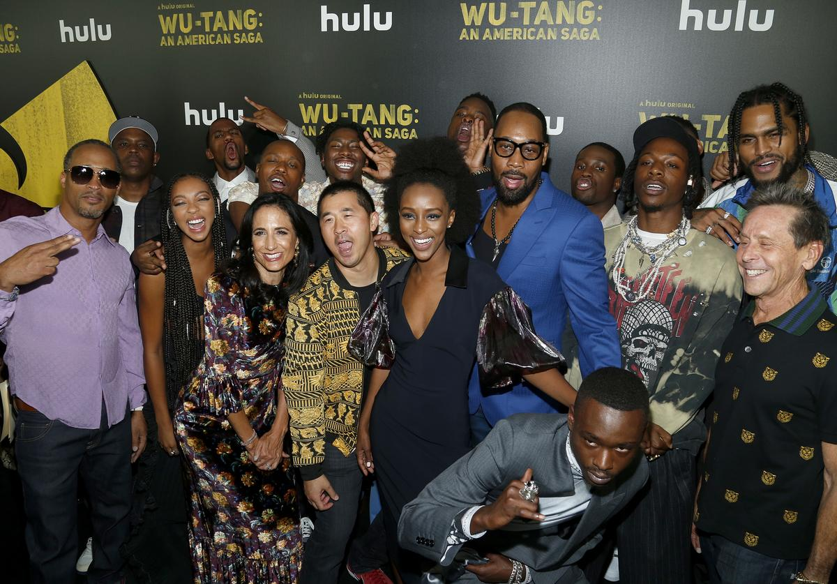 ": The cast and crew attend Hulu's ""Wu-Tang: An American Saga"" Premiere and Reception at Metrograph on September 04, 2019 in New York City."