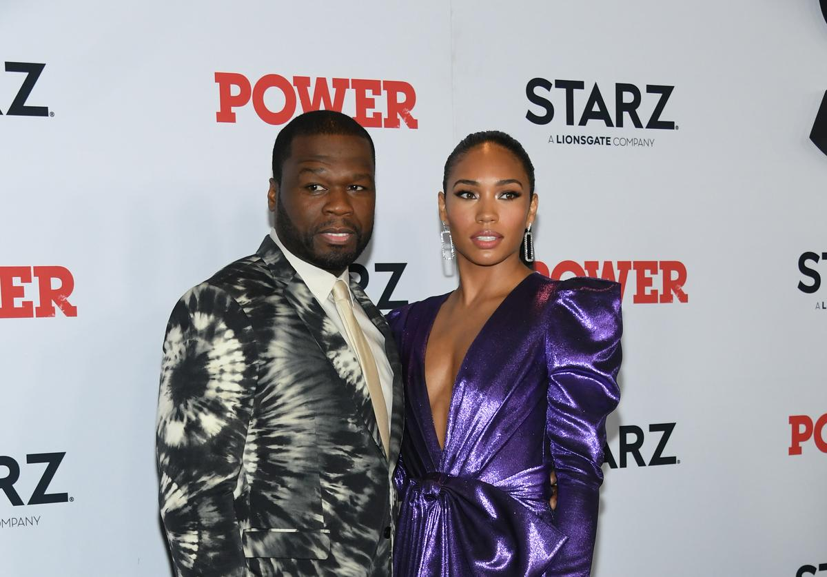 """50 Cent and Jamira attend the """"Power"""" Final Season World Premiere at The Hulu Theater at Madison Square Garden on August 20, 2019 in New York City"""