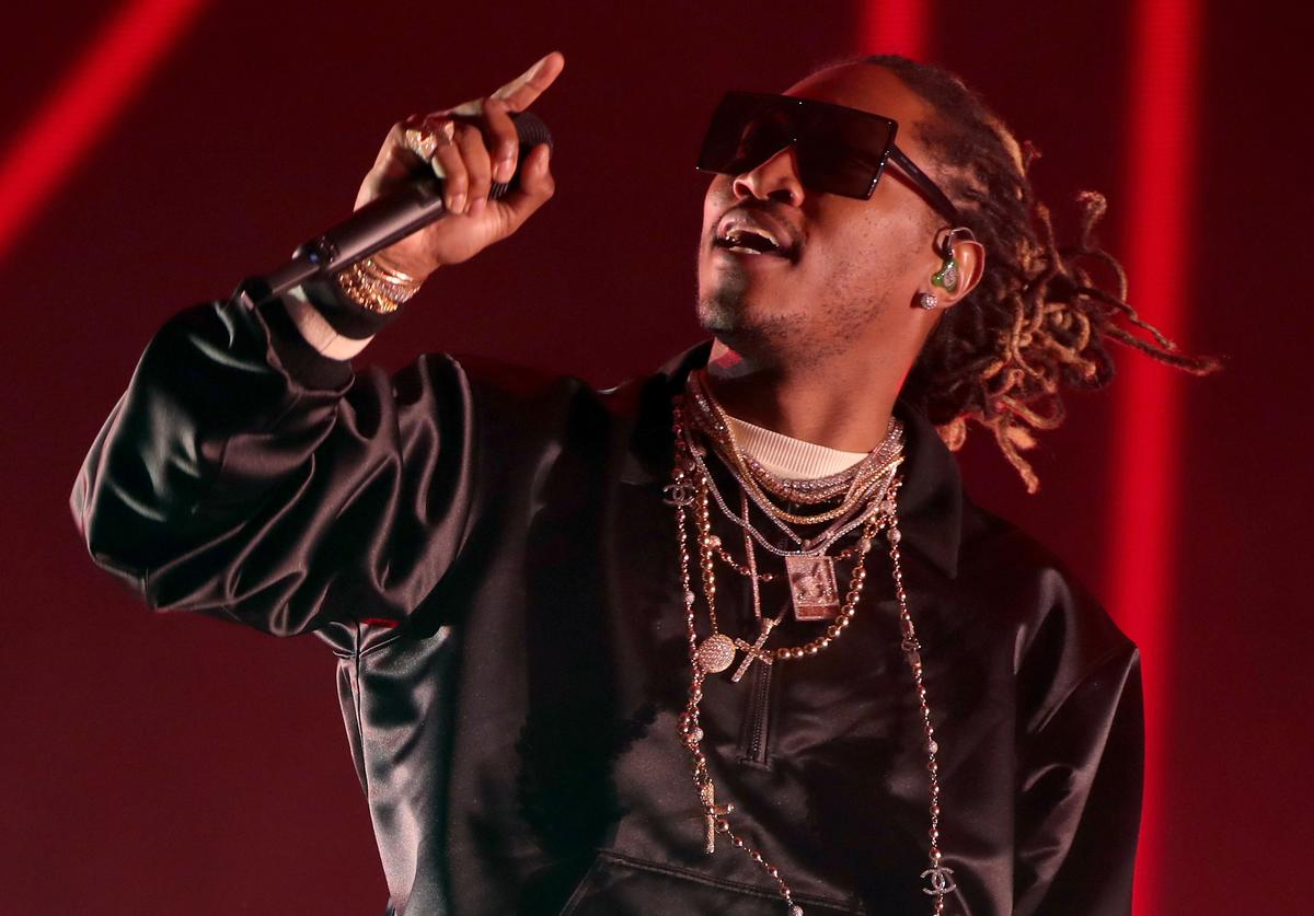 Future performs on the Coachella stage during day 3 of the Coachella Valley Music And Arts Festival (Weekend 1) at the Empire Polo Club on April 16, 2017 in Indio, California