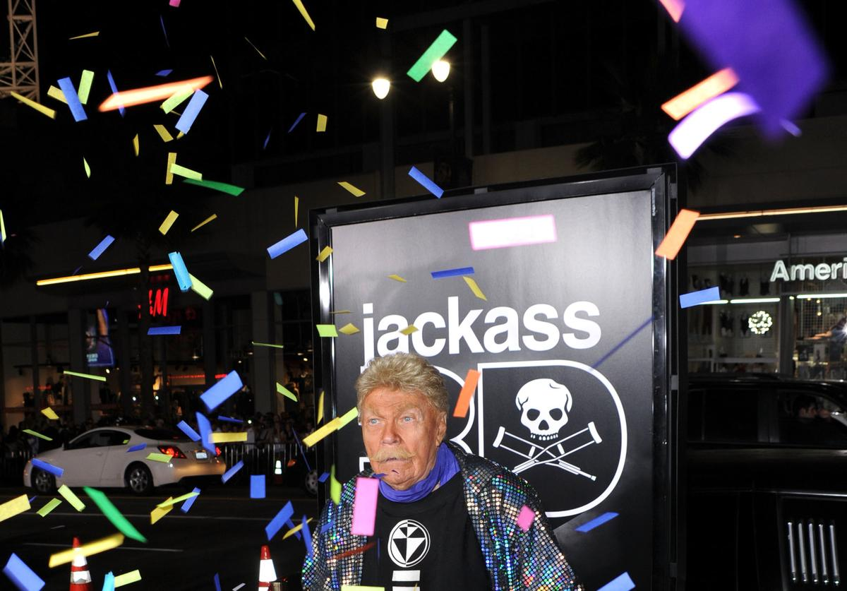 """Rip Taylor, Confetti King at the Premiere Of Paramount Pictures And MTV Films' """"Jackass 3D"""""""