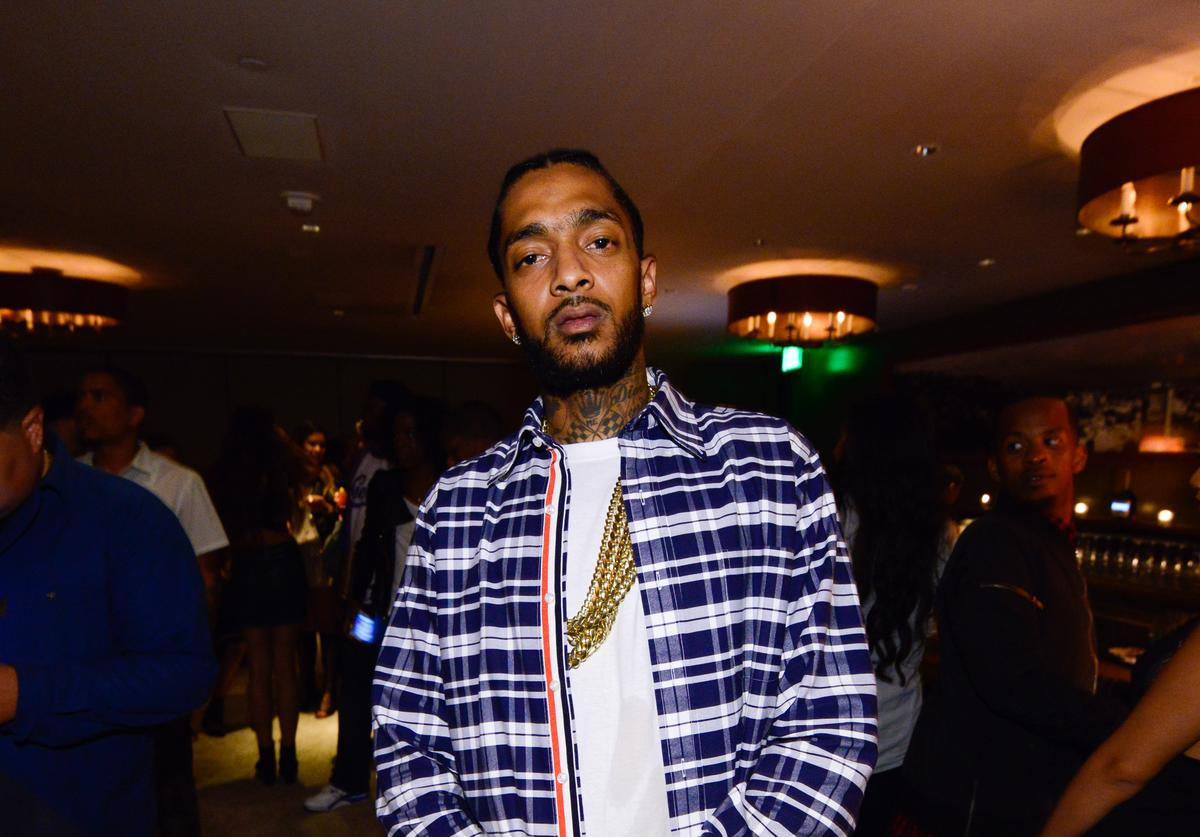 Nipsey Hussle attends the Jhene Aiko Souled Out event sponsored by Hennessy V.S on September 9, 2014 in West Hollywood, California