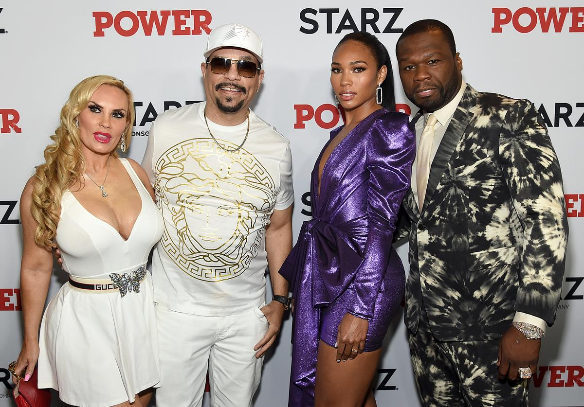 "Coco Austin, Ice T, Jamira, and 50 Cent at STARZ Madison Square Garden ""Power"" Season 6 Red Carpet Premiere, Concert, and Party on August 20, 2019 in New York City"