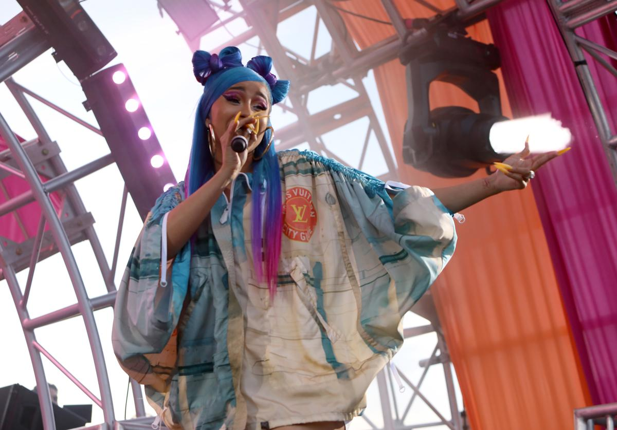 Cardi B performs onstage during #REVOLVEfestival Day 2 at Merv Griffin Estate on April 14, 2019 in La Quinta, California