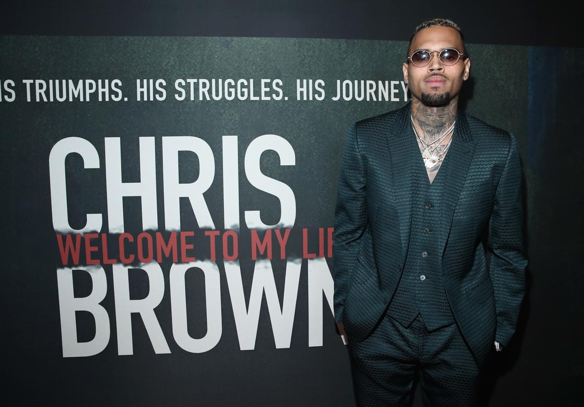 """Chris Brown attends the Premiere of Riveting Entertainment's """"Chris Brown: Welcome To My Life"""" at L.A. LIVE on June 6, 2017 in Los Angeles, California"""