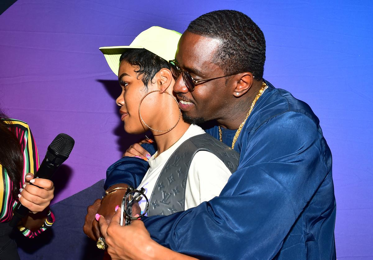 "Artists Teyana Taylor and Sean ""Diddy"" Combs attend day 3 of REVOLT Summit x AT&T Summit on September 14, 2019 in Atlanta, Georgia"