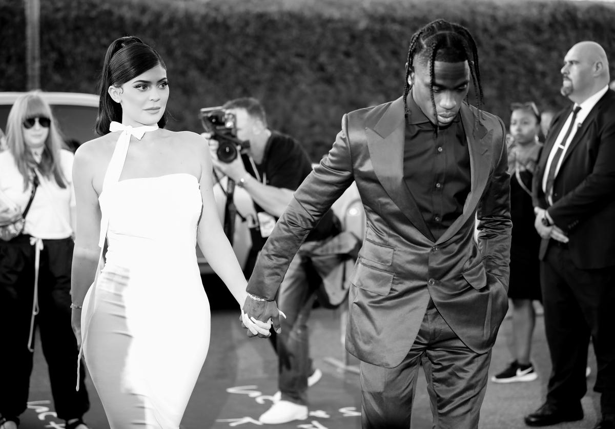 """Kylie Jenner and Travis Scott attend the premiere of Netflix's """"Travis Scott: Look Mom I Can Fly"""""""