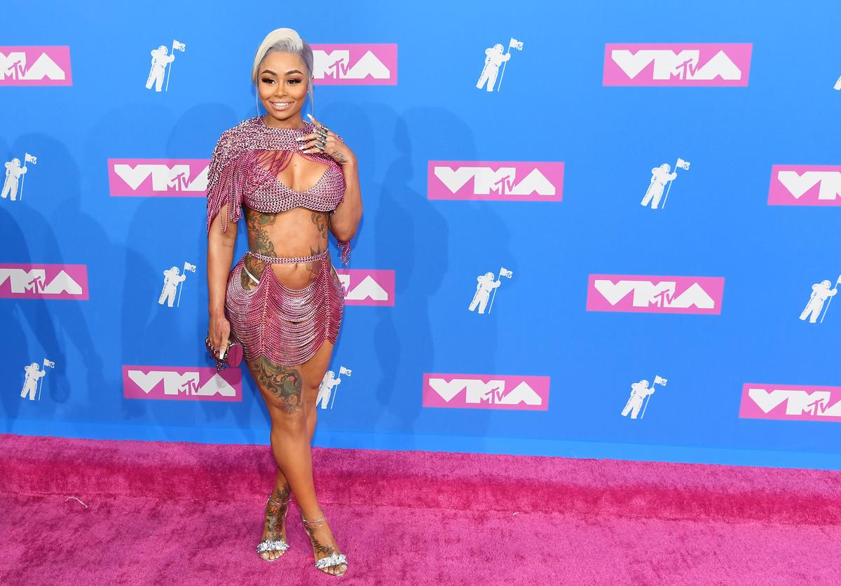 Blac Chyna attends the 2018 MTV Video Music Awards at Radio City Music Hall on August 20, 2018