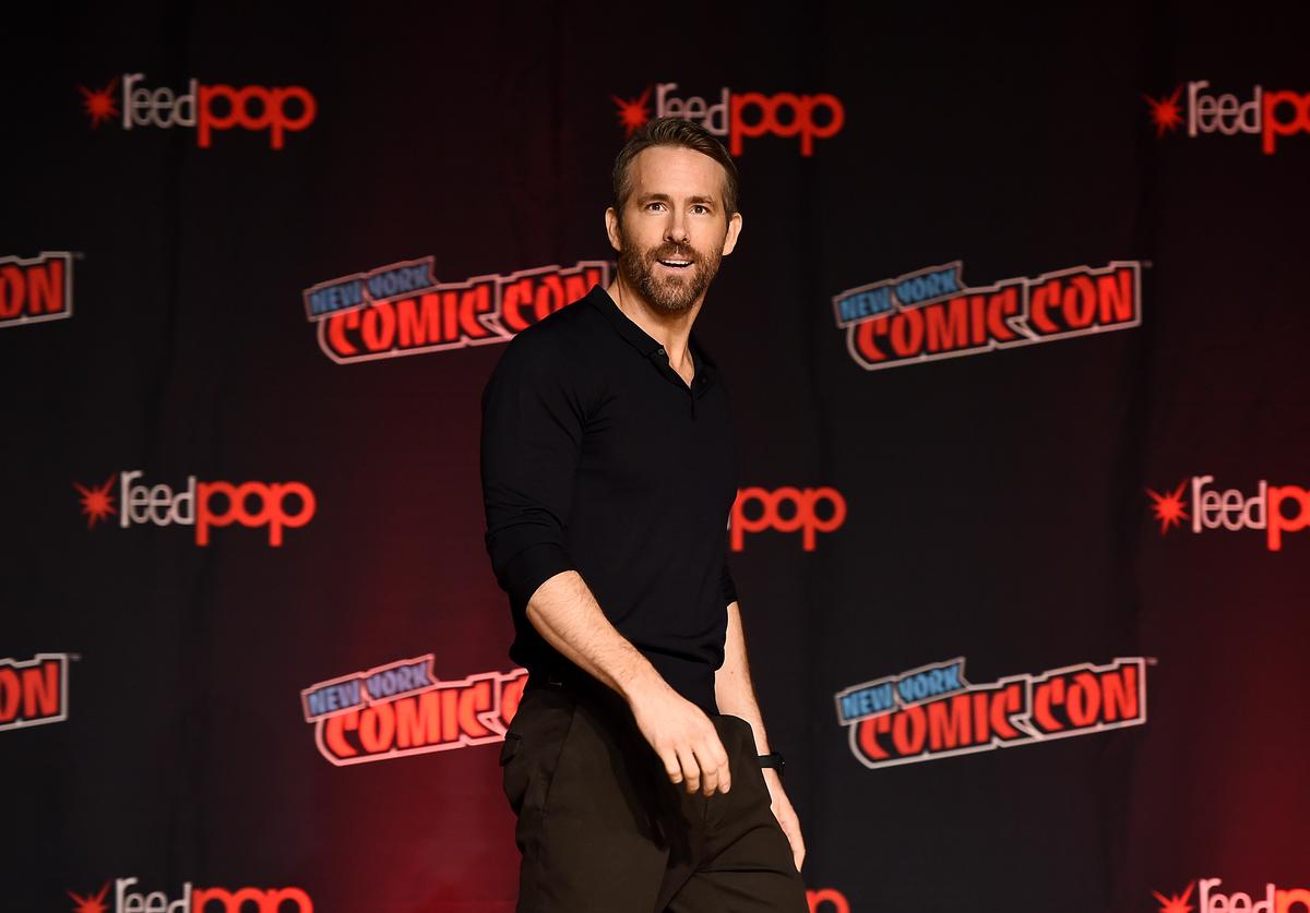 """Ryan Reynolds speaks onstage during the """"Free Guy"""" panel at New York Comic Con at The Jacob K. Javits Convention Center on October 03, 2019 in New York City."""