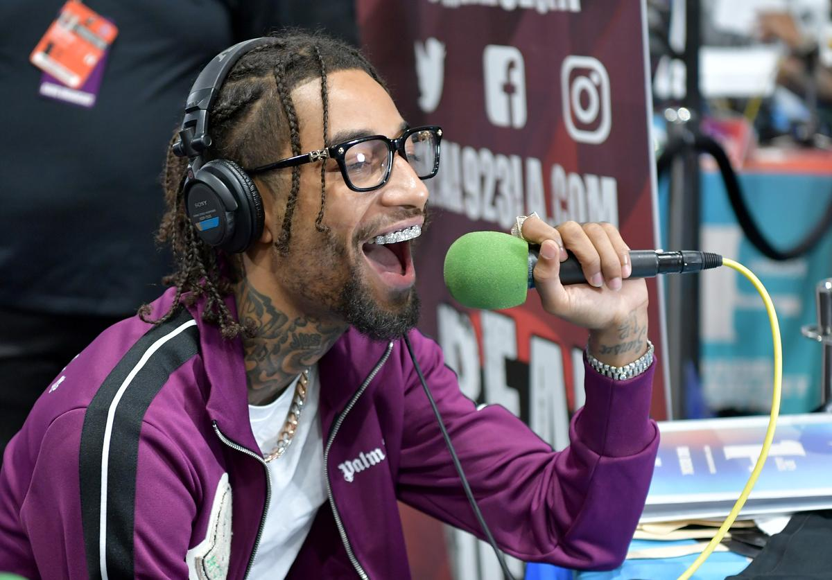 PnB Rock attends the BET Awards Radio Broadcast Center at Microsoft Theater on June 22, 2019 in Los Angeles, California