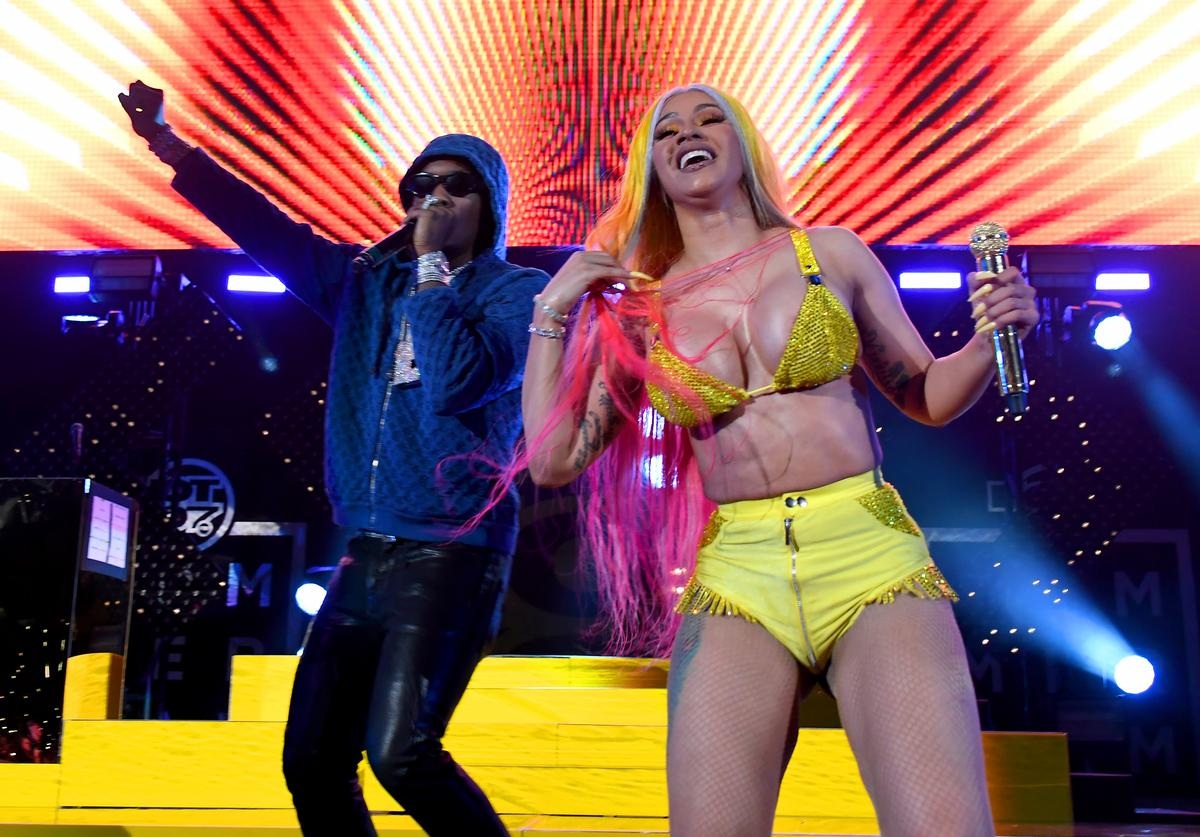 Offset and Cardi B perform during Summer Jam 2019 at MetLife Stadium on June 02, 2019 in East Rutherford, New Jersey
