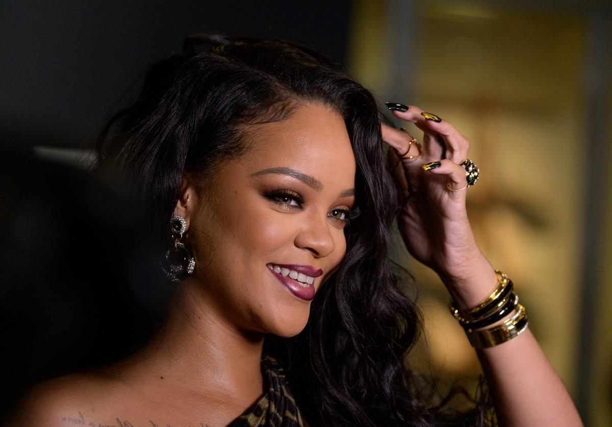 """Rihanna attends the launch of her first visual autobiography, """"Rihanna"""" at Guggenheim Museum on October 11, 2019 in New York City"""