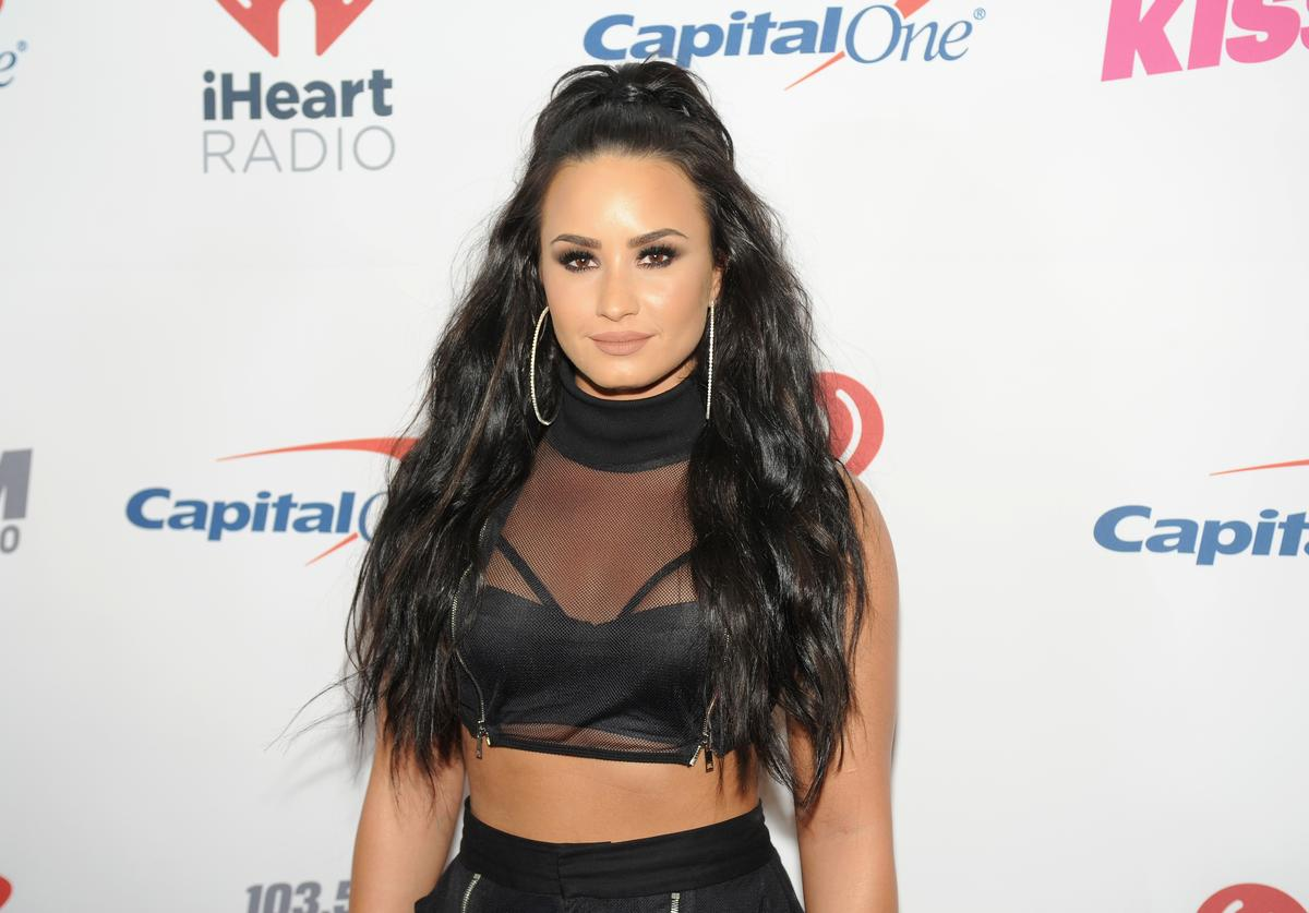 Demi Lovato attends 103.5 KISS FM's Jingle Ball 2017 at Allstate Arena on December 13, 2017 in Rosemont, Illinois