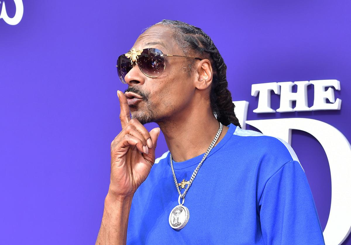 Snoop Dogg at Addam's Family premiere.