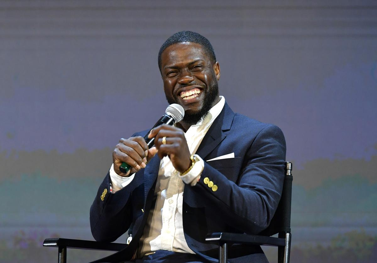 Kevin Hart speaks onstage at the 'Netflix Is A Joke' screening at Raleigh Studios on May 11, 2019 in Los Angeles, California