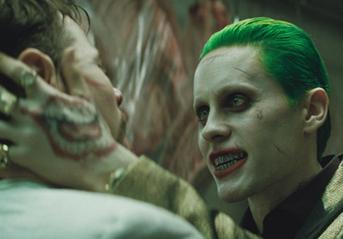 Jared Leto is unrecognizable as he becomes the Joker in Suicide Squad.