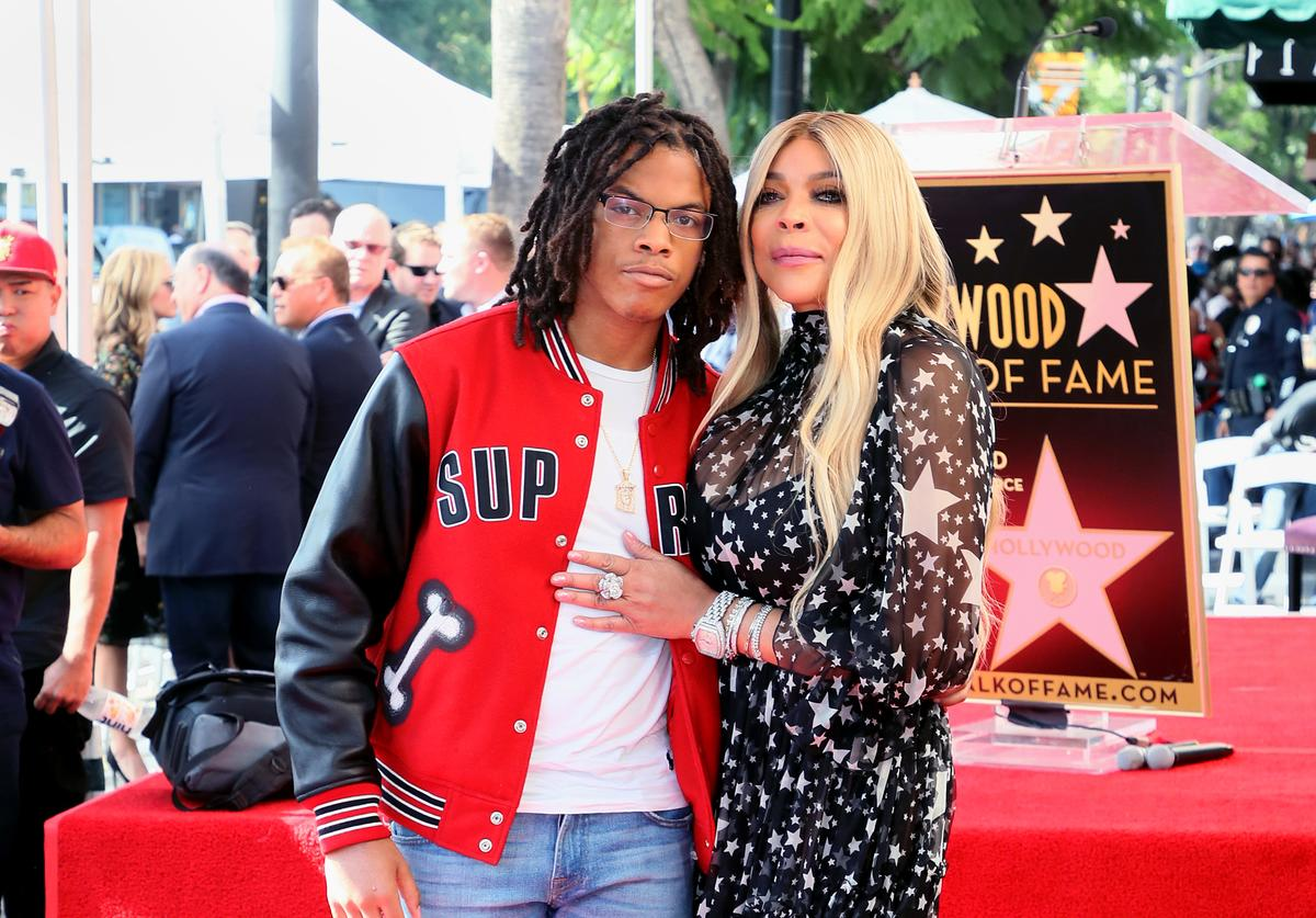 Wendy Williams and son Kevin Hunter Jr. attend her being honored with a Star on the Hollywood Walk of Fame on October 17, 2019 in Hollywood, California