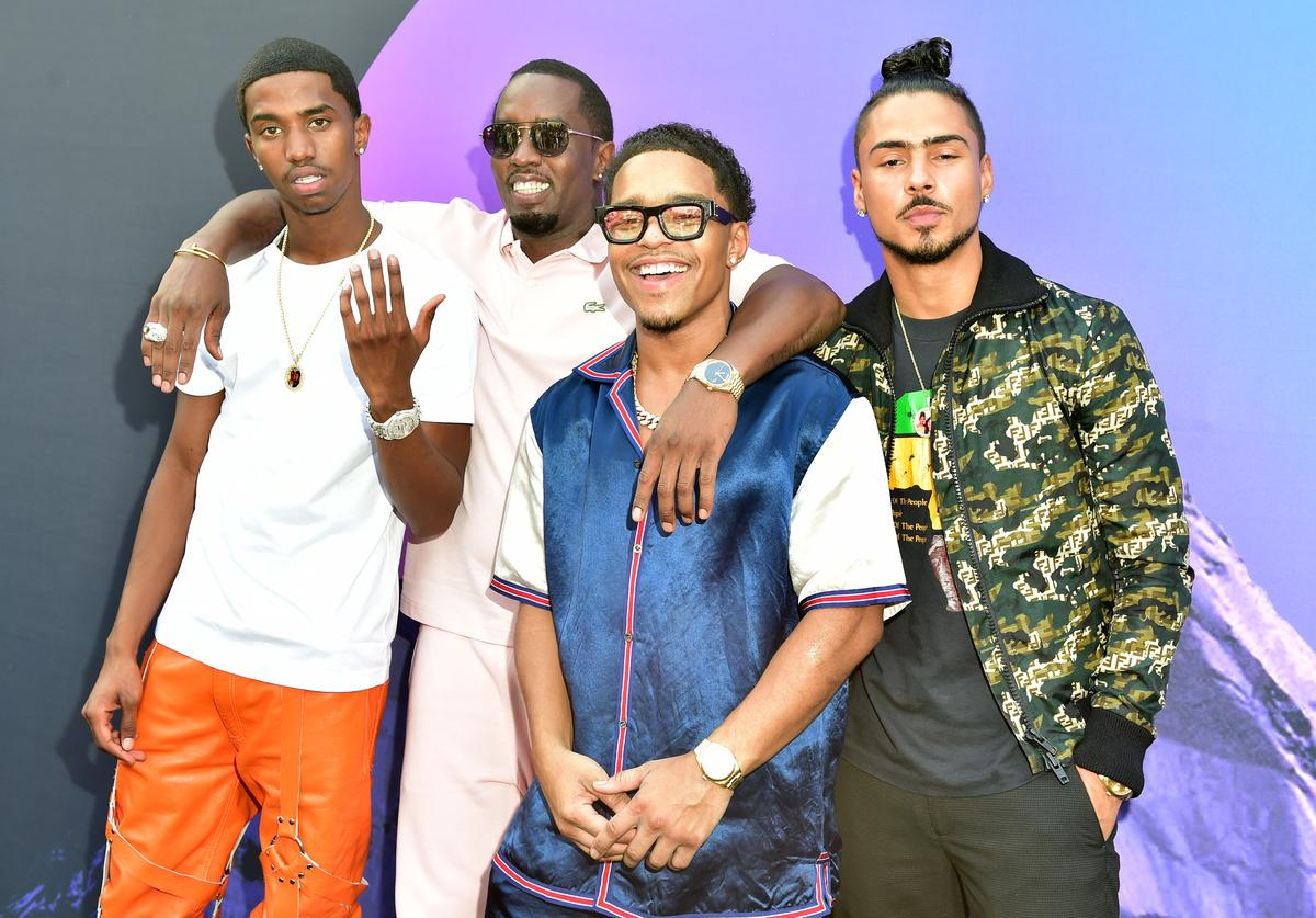 "Christian Combs, Sean ""Diddy"" Combs, Justin Combs, and Quincy attend day 3 of REVOLT Summit x AT&T Summit on September 14, 2019 in Atlanta, Georgia"