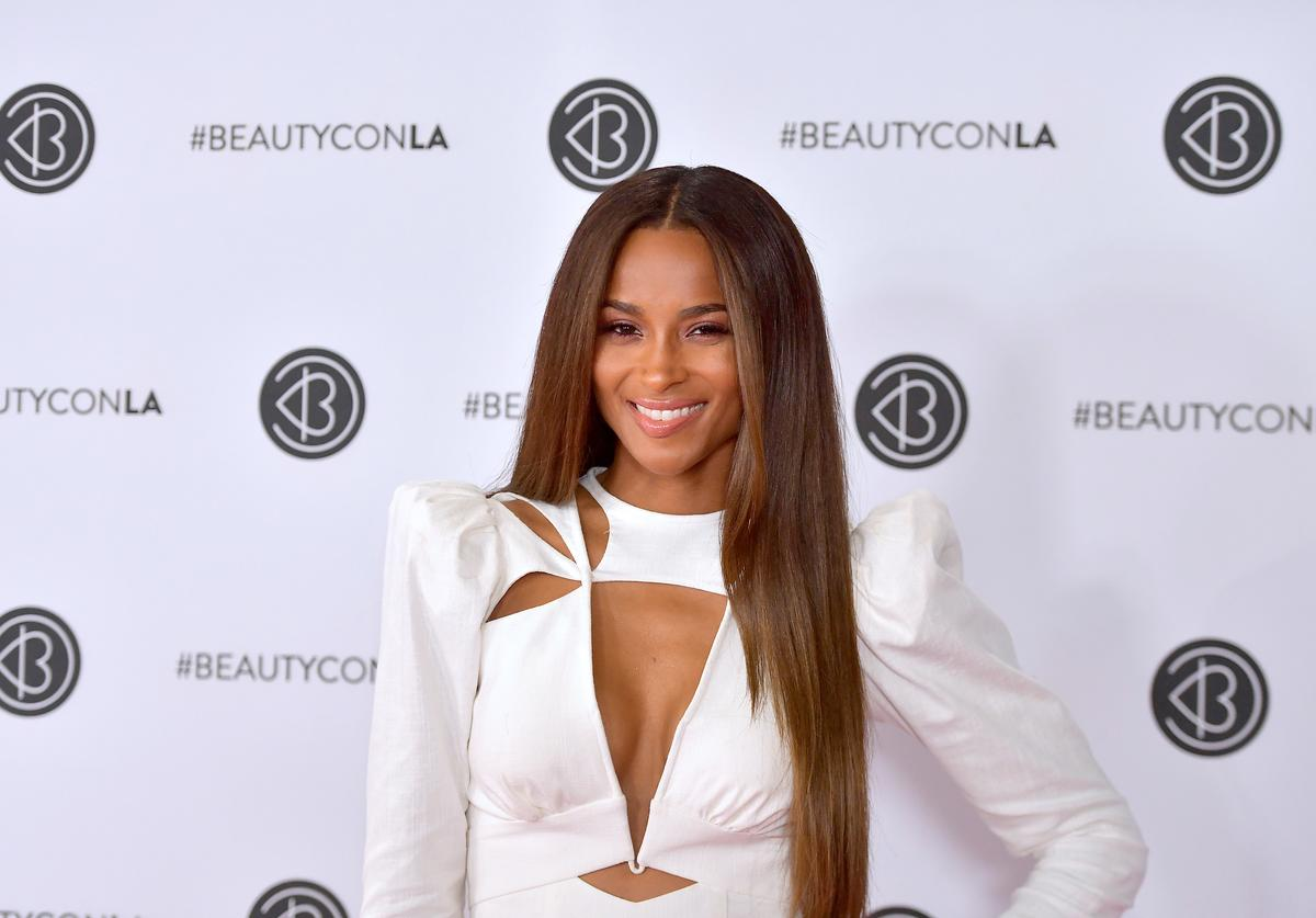 Ciara attends Beautycon Los Angeles 2019 Pink Carpet at Los Angeles Convention Center on August 11, 2019 in Los Angeles, California